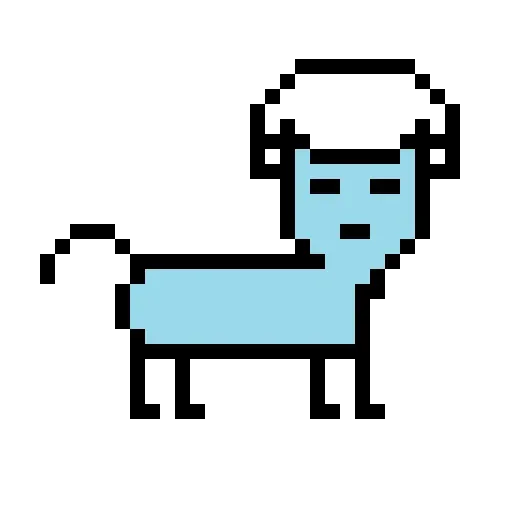 Color Pixel Cat - Sticker 6