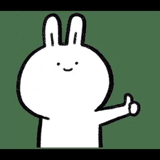 懶散兔與啾先生 - Sticker 21