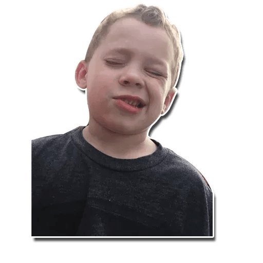 Confused kid - Sticker 20