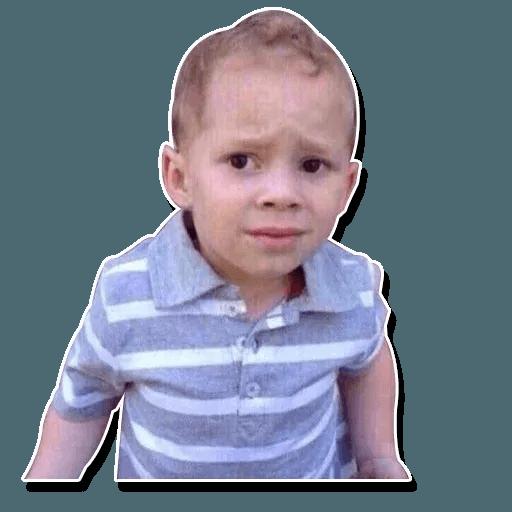 Confused kid - Sticker 7