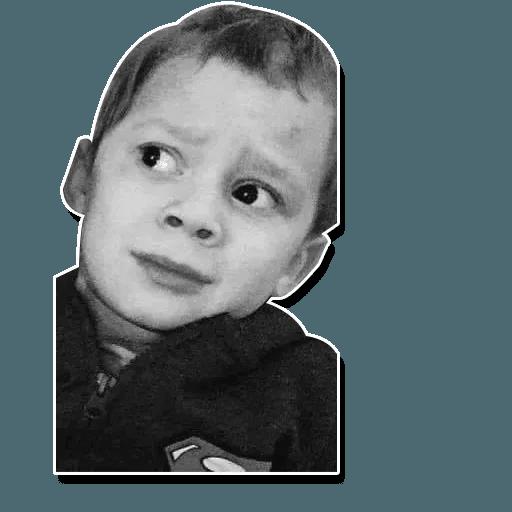 Confused kid - Sticker 12