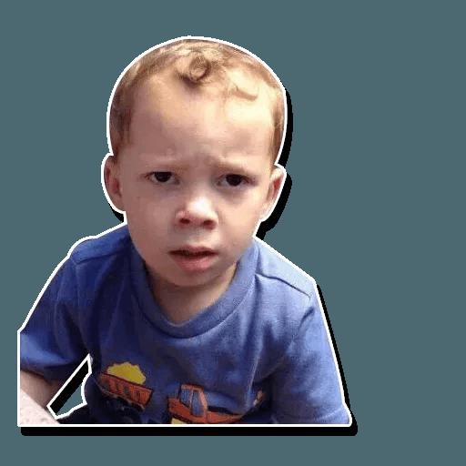 Confused kid - Sticker 13