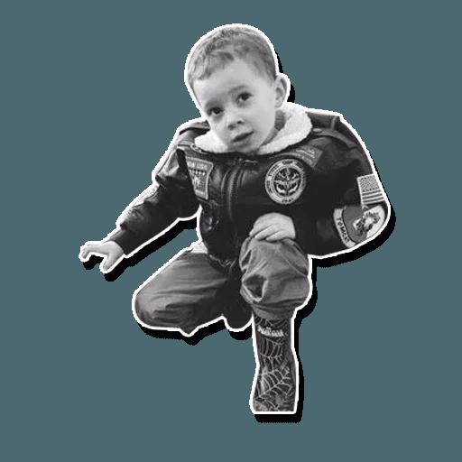 Confused kid - Sticker 24
