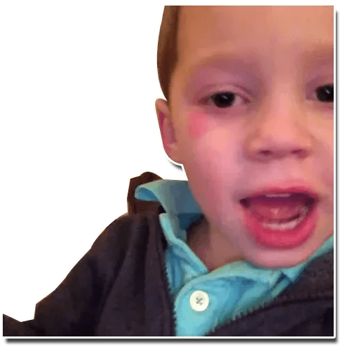 Confused kid - Sticker 18