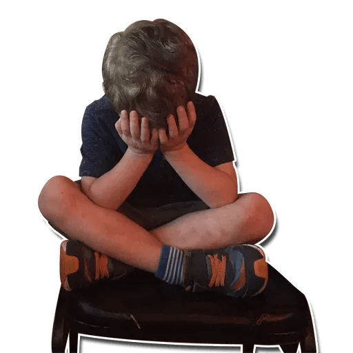 Confused kid - Sticker 23