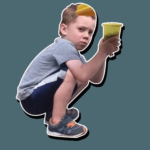 Confused kid - Sticker 19