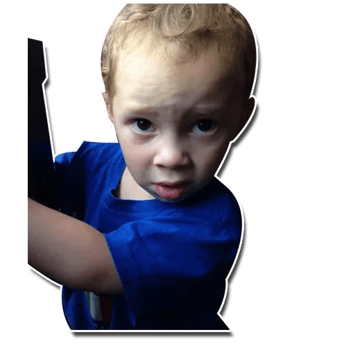 Confused kid - Sticker 17