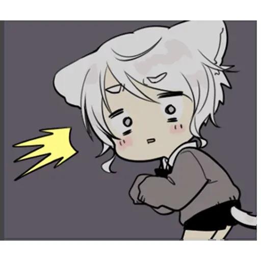 Cute cat ear boy - Sticker 20