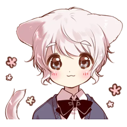 Cute cat ear boy - Sticker 2