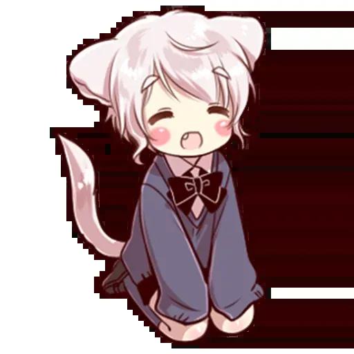 Cute cat ear boy - Sticker 28