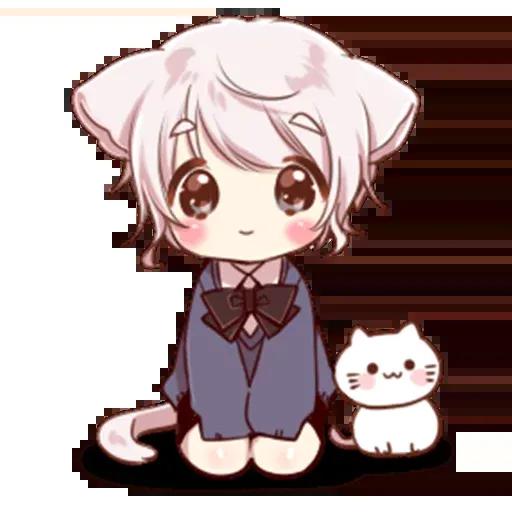 Cute cat ear boy - Sticker 19