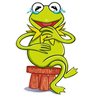 Frog - Tray Sticker