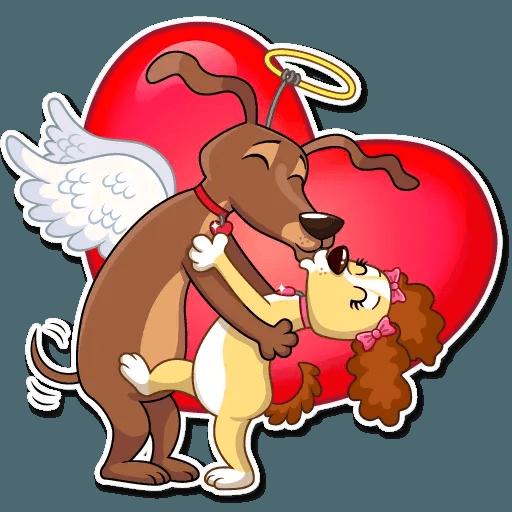 Cupid Dog - Sticker 16
