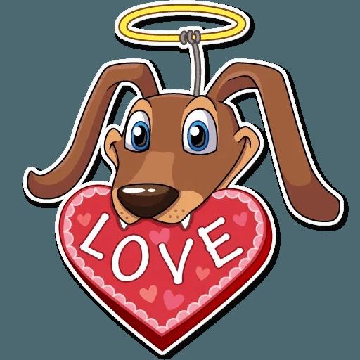 Cupid Dog - Sticker 11