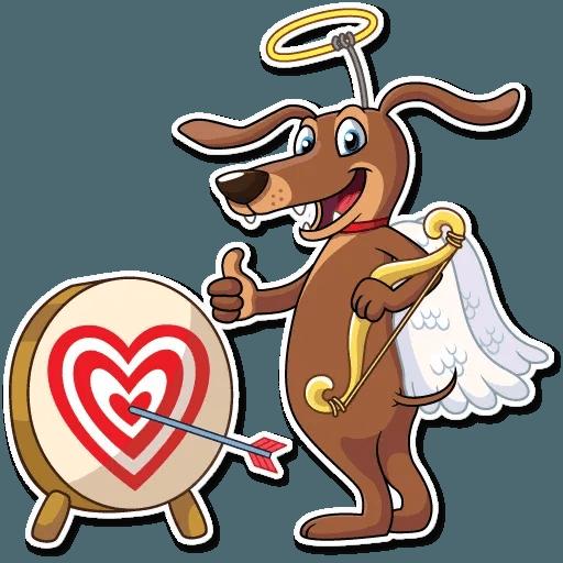 Cupid Dog - Sticker 27