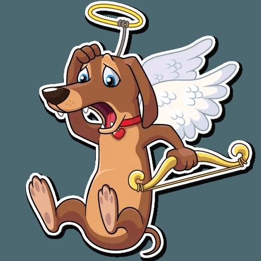 Cupid Dog - Sticker 26