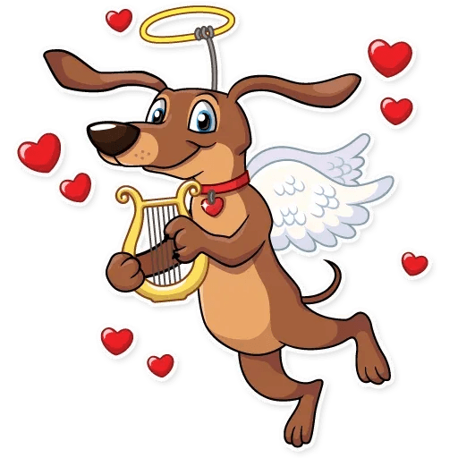 Cupid Dog - Sticker 4