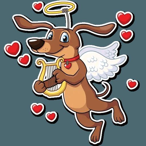 Cupid Dog - Sticker 4
