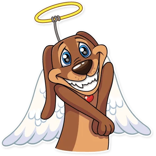 Cupid Dog - Sticker 3