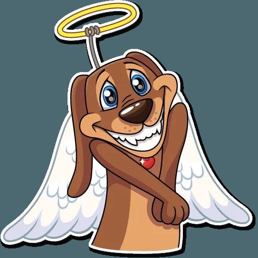Cupid Dog - Sticker 3