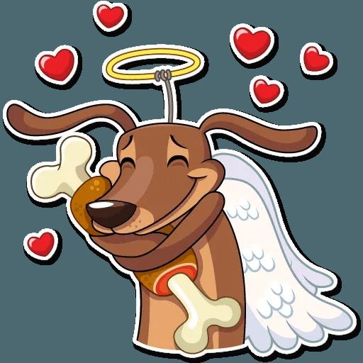 Cupid Dog - Sticker 12