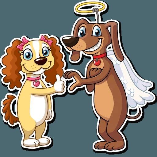 Cupid Dog - Sticker 20