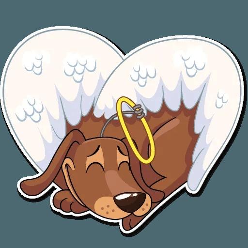 Cupid Dog - Sticker 24