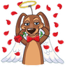 Cupid Dog - Tray Sticker