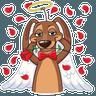 Cupid Dog - Tray Sticker