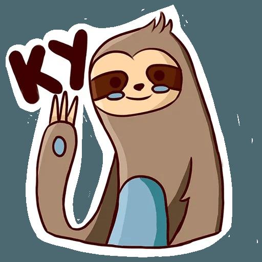 Ленивец - Sticker 30