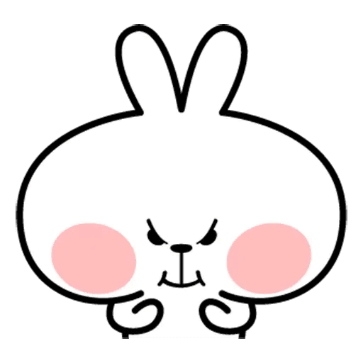 Spoiled rabbit face 2 - Sticker 18