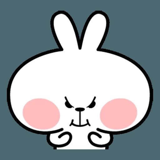 Spoiled rabbit face 2 - Sticker 18