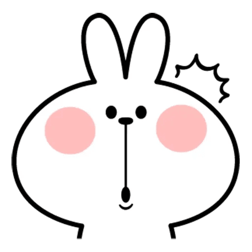 Spoiled rabbit face 2 - Sticker 25