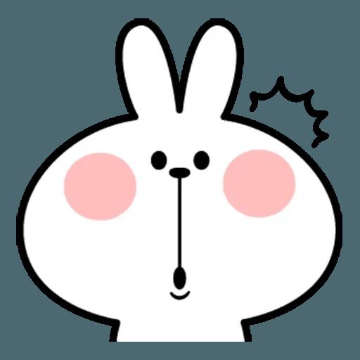Spoiled rabbit face 2 - Sticker 25