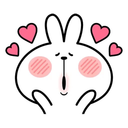 Spoiled rabbit face 2 - Sticker 14