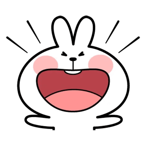 Spoiled rabbit face 2 - Sticker 10