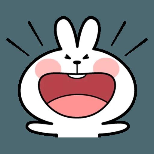 Spoiled rabbit face 2 - Sticker 10
