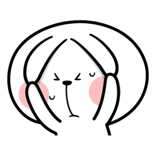 Spoiled rabbit face 2 - Sticker 29