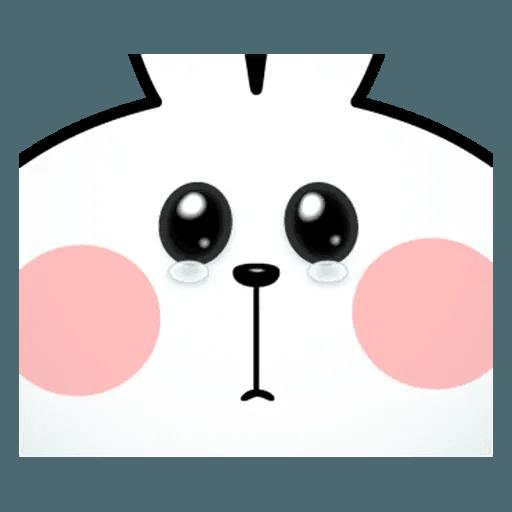 Spoiled rabbit face 2 - Sticker 24