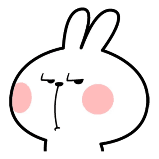 Spoiled rabbit face 2 - Sticker 17