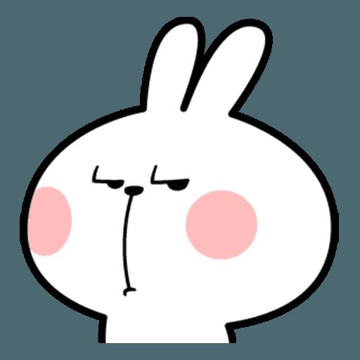 Spoiled rabbit face 2 - Sticker 17
