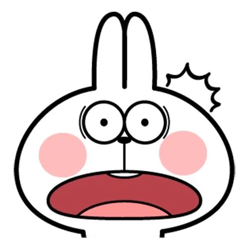 Spoiled rabbit face 2 - Sticker 27