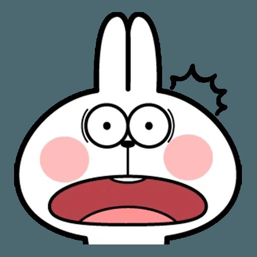 Spoiled rabbit face 2 - Sticker 27