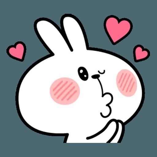 Spoiled rabbit face 2 - Sticker 15