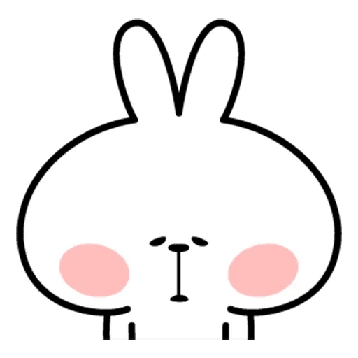 Spoiled rabbit face 2 - Sticker 22