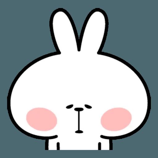 Spoiled rabbit face 2 - Sticker 22