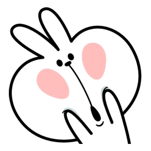Spoiled rabbit face 2 - Sticker 26