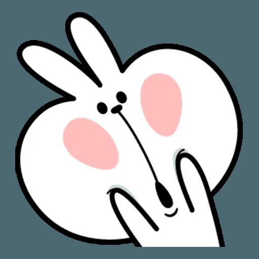 Spoiled rabbit face 2 - Sticker 26