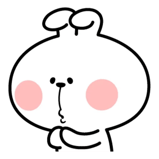 Spoiled rabbit face 2 - Sticker 21