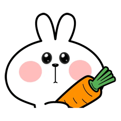 Spoiled rabbit face 2 - Sticker 23
